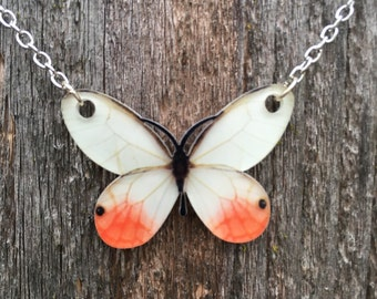 Gorgeous orange butterfly necklace