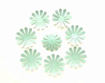 8 Large Turquoise Filigree  -Filigree Components
