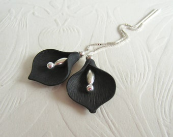 Calla Lily-Sterling Silver-Threaders or Earrings