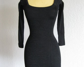 BETSEY JOHNSON PUNK Label 80s Hot Body Con Mini!