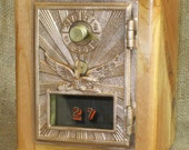 Post Office Door Bank No 27 - Barn Wood - Eagle - 1920 FREE SHIPPING