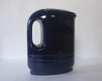 Westinghouse Hercules Refrigerator Pitcher Cobalt Blue Made by Hall China