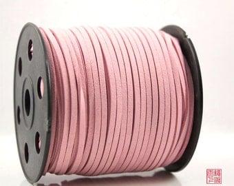 5M Light Salmon Micro Fiber Suede Cord