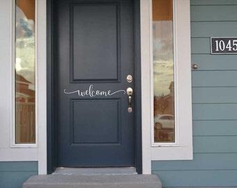 Welcome KW1259 vinyl wall lettering sticker decal home decor door sign