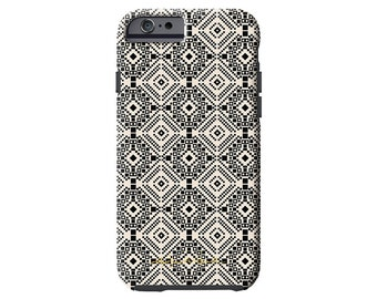 TILES black and white geo tile print iPhone 6/6s, iPhone 6/6s plus, iPhone 5/5S case, Samsung Galaxy S6