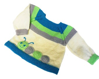 Knitted baby sweater, hand-knitted woolen sweater, baby knits,hand knitted cardigan for babies, READY TO SHIP