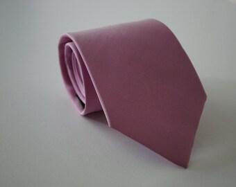 Mens tie, Orchid Pink tie, Hot Pink Necktie Silk tie, Groomsmen tie, Blush Tie, Wedding tie, Necktie for Men from Thailand