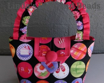 Little Girls Colourful Fabric Bag