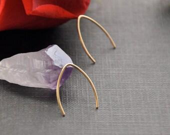Tiny Gold Hoop, Minimal Earrings, Minimalistic Hoop, Minimalistic Jewelry, Gold Wire Earrings, Simple Earrings, Minimal Jewelry