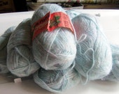 Pastel Blue Soft and Fine Knitting Yarn by Patons, 70 PerCent Acrylic and 30 Percent Nylon, Seven 40 Gram Skeins,Vintage