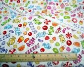 Sweetie Bright Bites Candy Premium Cotton fabric from Loralie Harris Designs