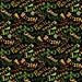 Caliente Peppers Pepper Names on Black premium cotton fabric by Tara Reed Designs for Wilmington Prints - sold per yard
