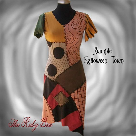 Sally Costume Nightmare Before Christmas Patchwork Dress Made