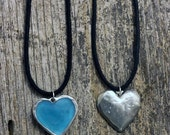 Spring Sale 10% Heart Pendant - glows in the dark - Luminance series