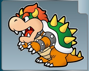 BOWSER vinyl decal No. 1 from Super Mario Bros. Paper Mario Sticker for almost anything!
