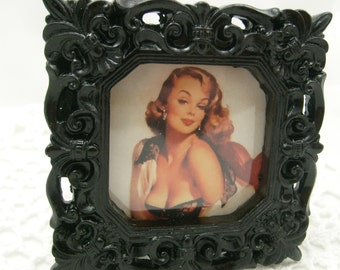 Pin Up Girl Picture With Frame