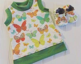 Organic Cotton Butterfly Tank Top