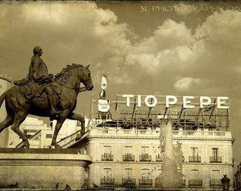 Horse Fine Art Photography Print Europe Spain Madrid Black and White