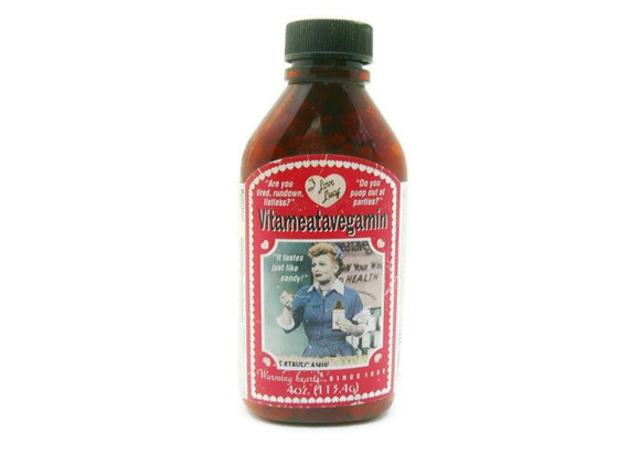 Vintage I Love Lucy Vitameatavegamin Bottle With Red Hot