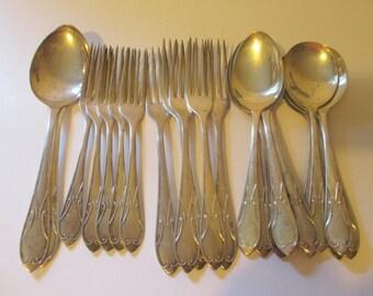 Vintage SilverPlate Flatware Sheffield England Art Deco Pattern