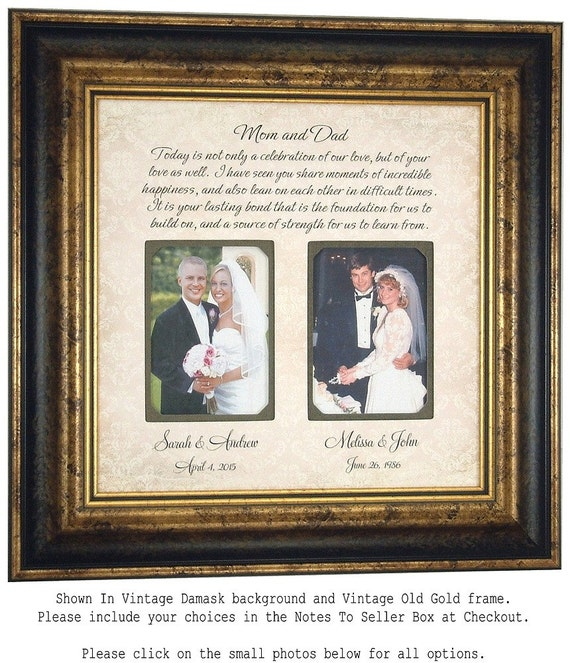 Personalized Picture Frame, Parents Wedding Frame Sign, Today A Celebration Mom and Dad, Wedding Frame Gift  16 X 16