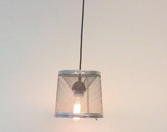 Minnow Trap Pendant, Rustic Modern Industrial lighting