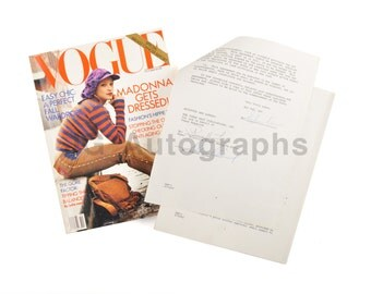 Madonna - Signed Vogue Contract for Stephen Meisel Photography - Also by Meisel