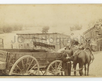 Horse Drawn Carriage - Original Vintage Photograph (1800s - early 1900s)