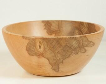 Wooden bowl turned from spalted alder