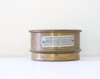 Vintage Brass Scientific American Pharmacy Sieve 40