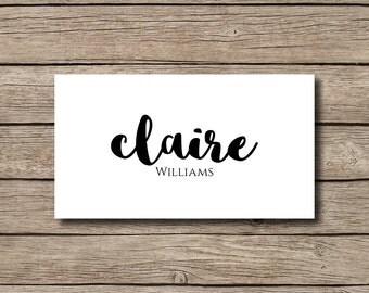 DIGITAL FILE | DIY | Handwriting | Calligraphy | Script  | Printable Wedding Place Cards | Name Cards