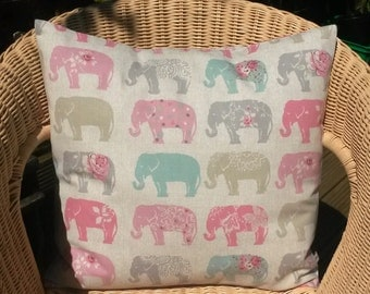 elephant pillow cover - elephant throw pillow - pastel pillow - elephant cushion cover - elephant cushion - elephant decor - Africa pillow