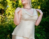 Old Hollywood Champagne Blouse