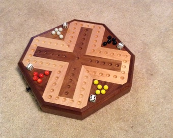 New Style Inlaid Wooden Maple And Walnut Aggravation Board