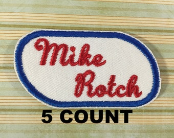 NAME PATCH - 5 Count Custom Retro Style