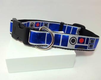 Dog Collar -Adjustable - Star Wars R2D2 Inspired