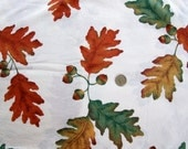 CUSTOM listing for BryonyK  Vintage Cotton autumn oak leaf print, 3 yards