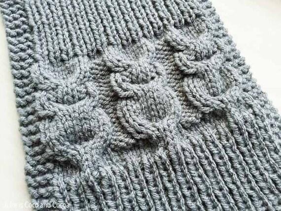 Owl Scarf Knit Pattern