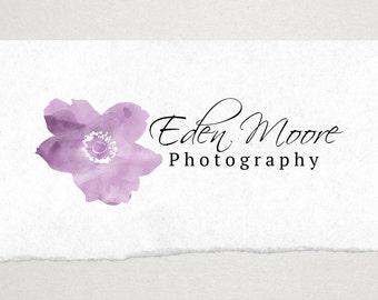 Premade Logo // Logo Design // Business Logo //  Photography Logo // Watercolor Logo // Flower Logo