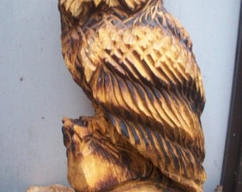 chainsaw carving owl