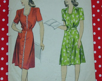 Vintage Pattern c.1940's DuBarry No.6031, Dress, Size 18