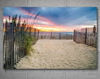 Beach Seascape 24x36 inches Large Metal Wall Art, Limited Edition Vivid Metal Print, Ocean Sunrise Photography, Ready to Hang Wall Art