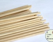 "175 wooden dowels for cake decorating, 12"" x 1/4"" wood dowels for cakes, dowels for stacking tiered wedding cakes, cake decorating supplies"