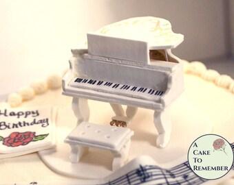 Grand Piano Cake Topper Tutorial- PDF downloadable file. Sugar craft tutorial, sugarcraft tutorial