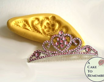 Tiara mold for cake decorating, chocolate, polymer clay, gumpaste, princess cakes, M5059