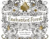 Adult Coloring Book - Enchanted Forest -  With Hidden Objects to Find! - Shipping Only 4 Dollars (454182)