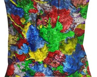 """Colorful BANGARANG Throw Pillow, 14"""" 16"""" or 18"""" Spun Polyester"""