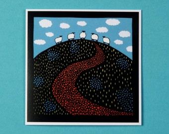 Blueberry hill art card