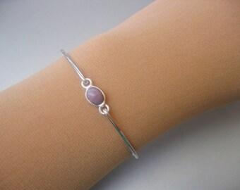 LAVENDER CHALCEDONY bangle bracelet