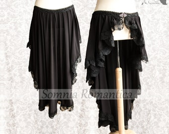 Skirt, Victorian Steampunk, goth wrap skirt black, bustle, Maeror, Somnia Romantica, size extra large see item details for measurements
